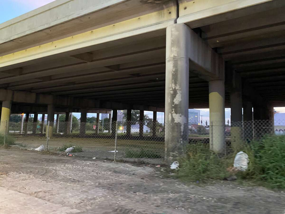 By Wednesday evening, the camp was entirely cleared from underneath I-37.