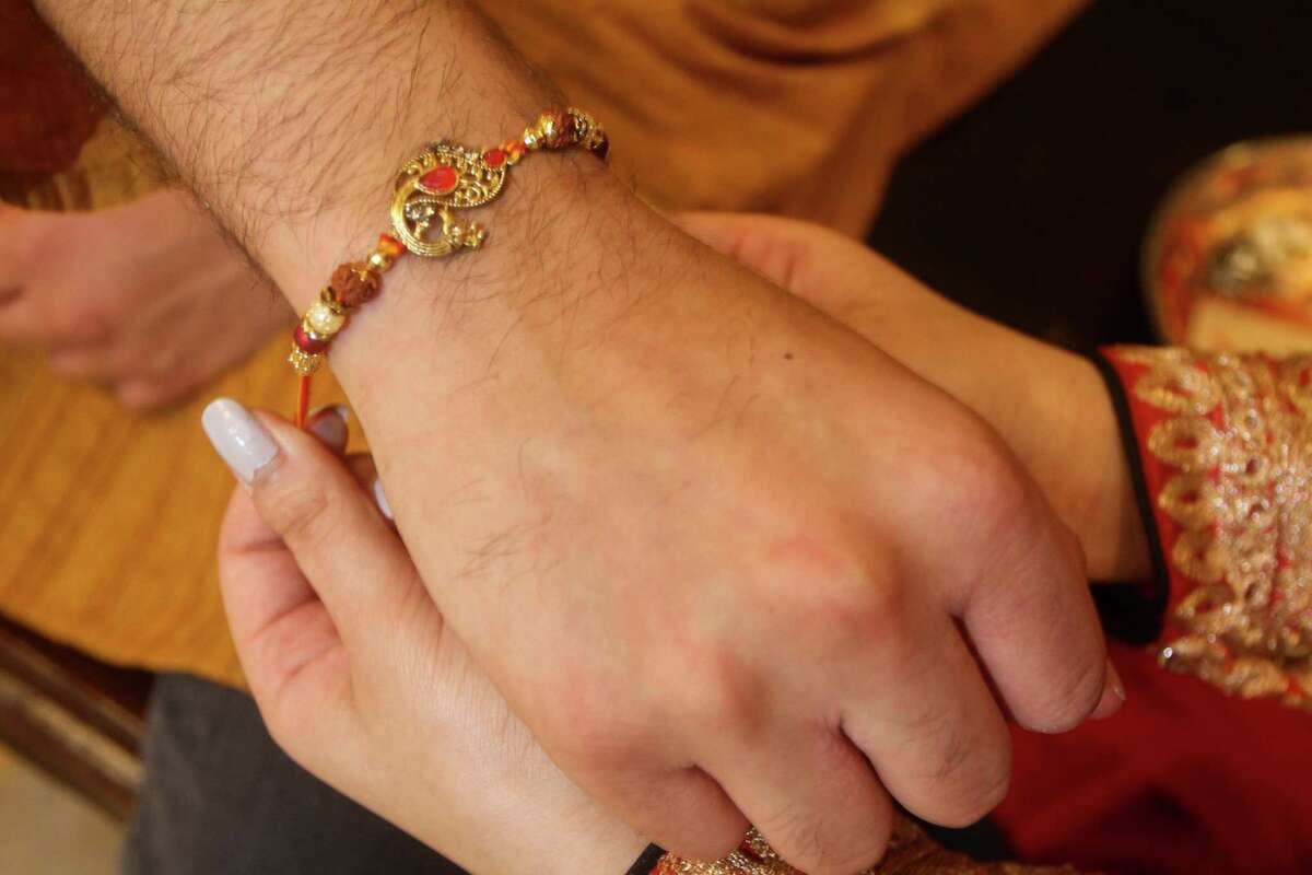 Akash Shah and his sister, Kajal Shah celebrate Raksha Bandhan, also abbreviated to Rakhi, the Hindu festival that celebrates brotherhood and love.Traditionally, during the festival sisters tie a rakhi, a bracelet made of interwoven red and gold threads, around their brothers' wrists to celebrate their relationship.