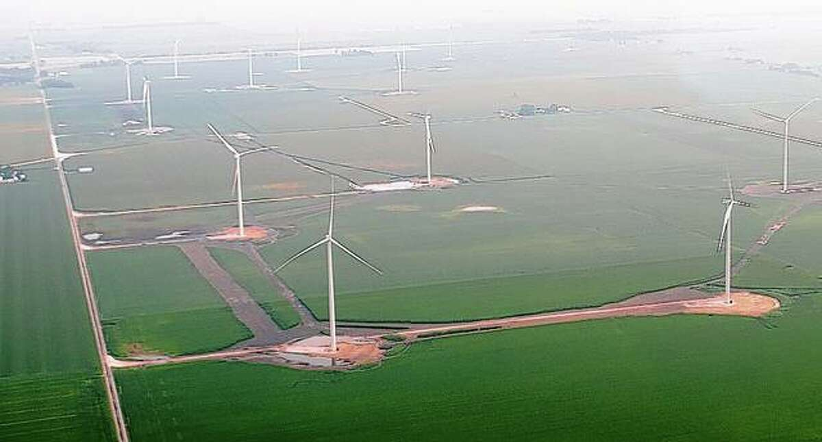 Once construction on the Lincoln Land Wind project is complete, there will be 107 wind turbines in east Morgan County, with each capable of generating 2.8 megawatts of power. Together they will be capable of generating 300 megawatts of power to serve 102,500 homes.