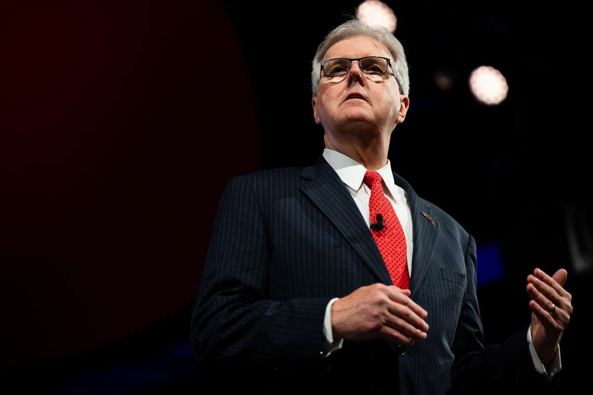 Lieutenant Governor of Texas Dan Patrick speaks during the Conservative Political Action Conference CPAC held at the Hilton Anatole on July 09, 2021 in Dallas, Texas.
