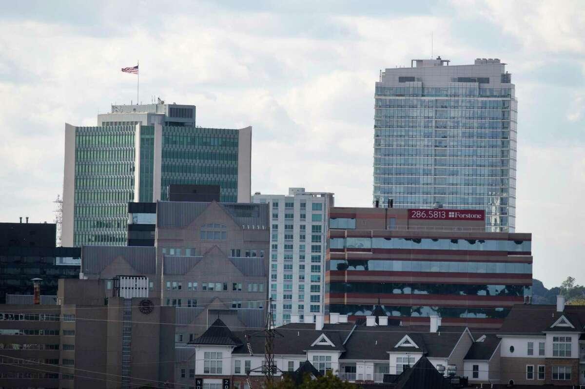 The Stamford skyline in 2018.