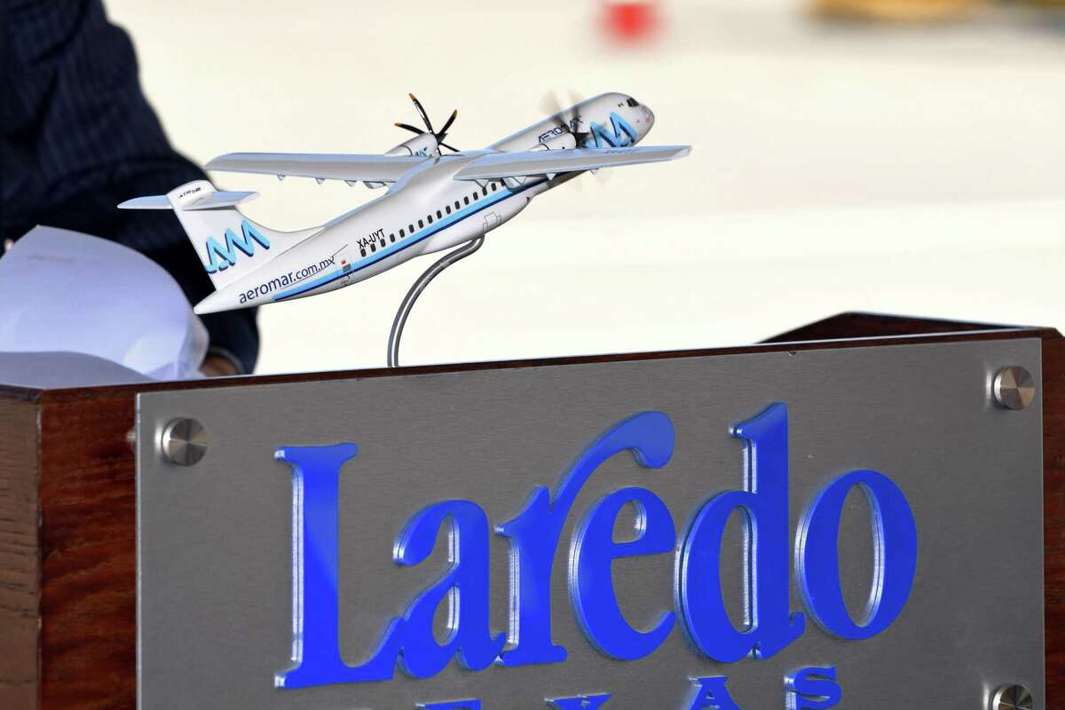 A miniature airplane model will be one of the prizes for the winners in the October Runway Run.