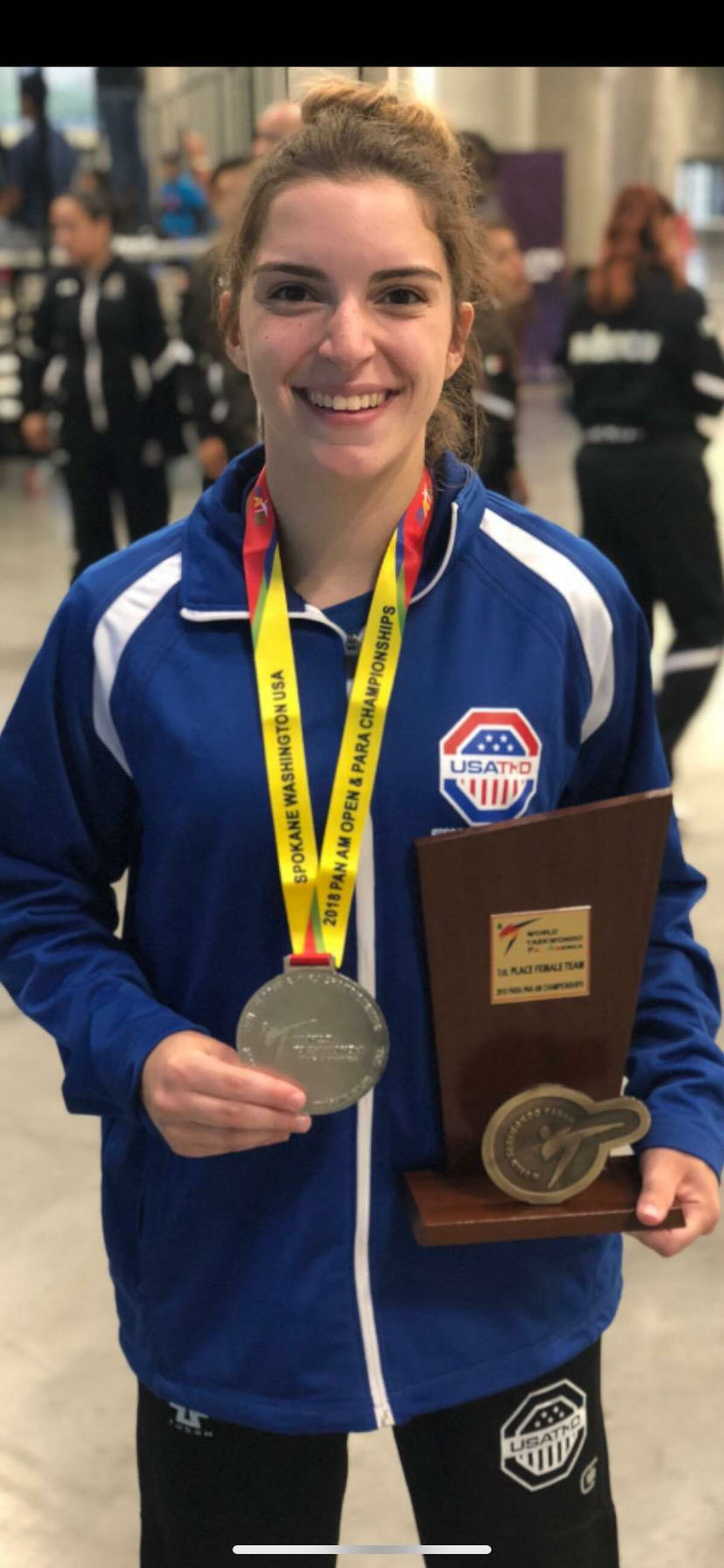 Brianna Salinaro will become the first female to compete in parataekwondo on the world stage during the 2020 Paralympics in Tokyo. Salinaro graduated from Sacred Heart University in 2020.