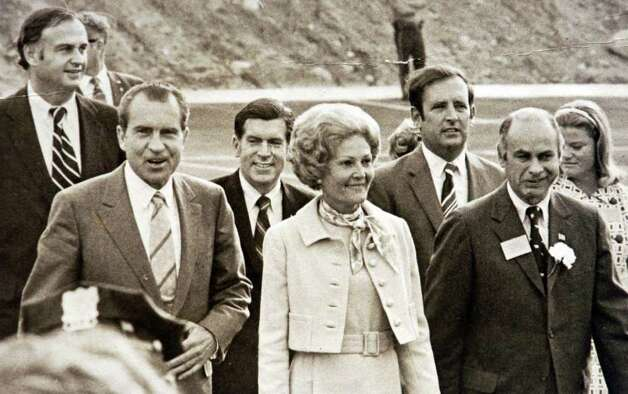 1970: President Richard Nixon, his wife, Pat Nixon and other dignitaries during visit to the Italian Center of Stamford. Photo: File Photo / Stamford Advocate File Photo