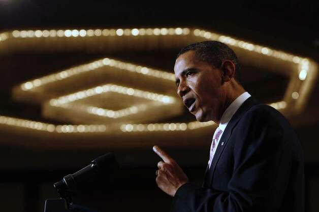 2009: President Barack Obama speaks at a fundraiser for U.S. Sen. Chris Dodd in Stamford. Photo: File Photo / Stamford Advocate File Photo