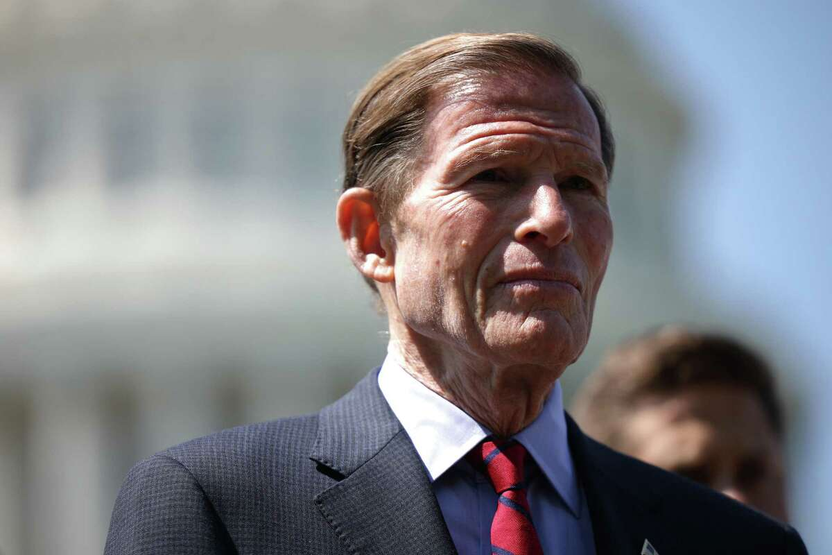 Sen. Richard Blumenthal (D-Conn.) speaks at a press conference earlier this month in Washington, D.C.