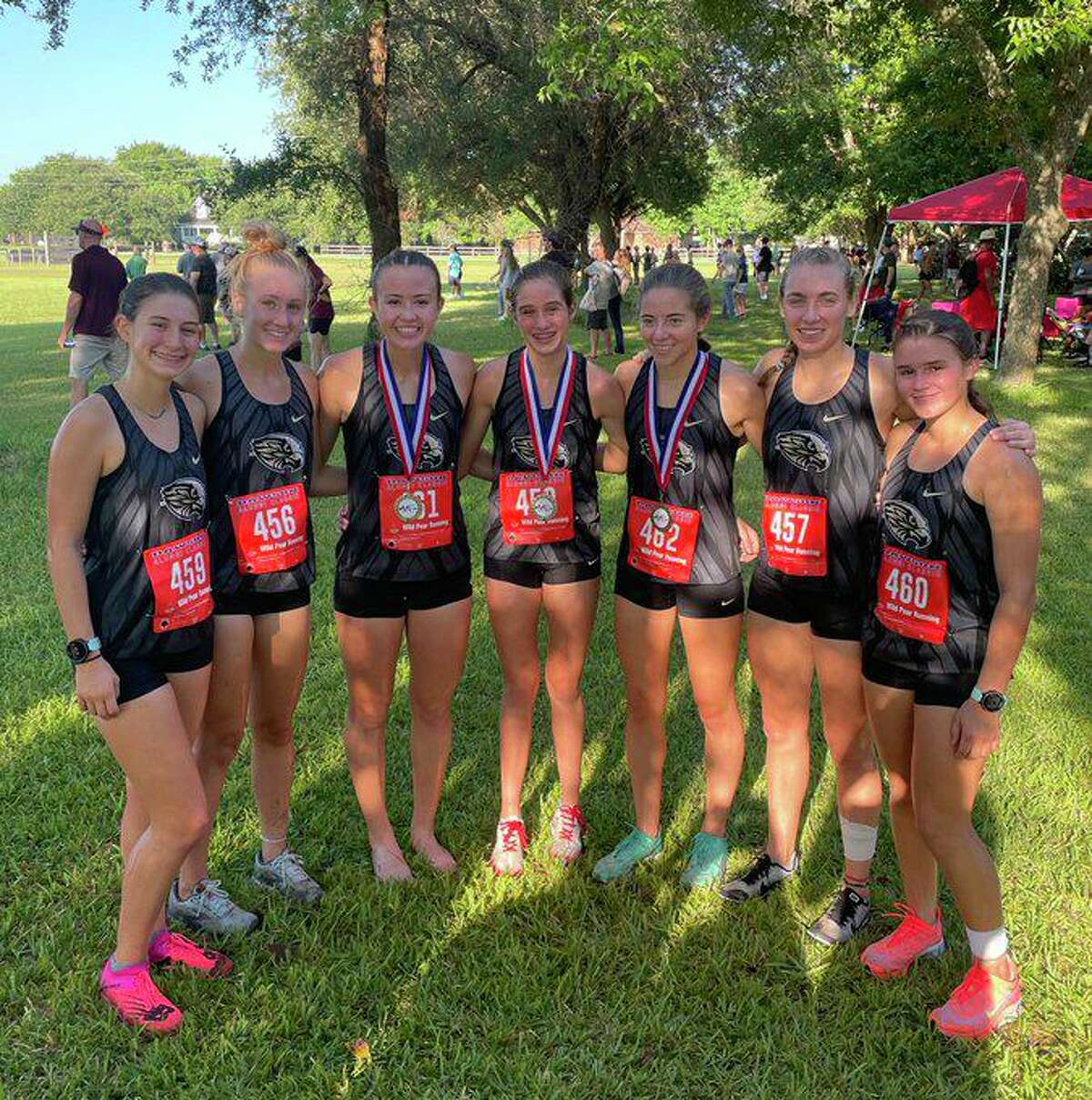 The Foster girls cross country team won the team championship to open the 2021 season Aug. 14 at the Will Sirmon Short Course meet hosted by Dawson High School.