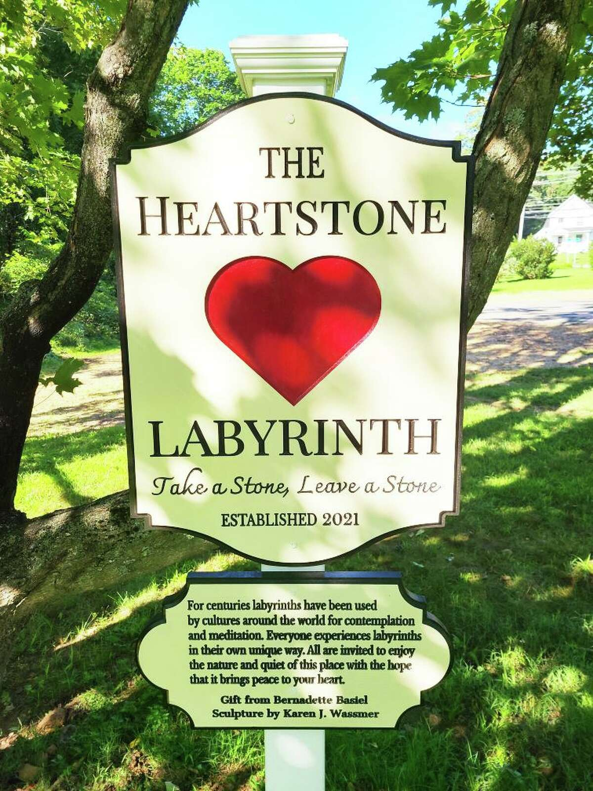 The official unveiling of The Heartstone Labyrinth will take place Aug. 28 from 10 a.m. to noon at the Levi Coe Library.