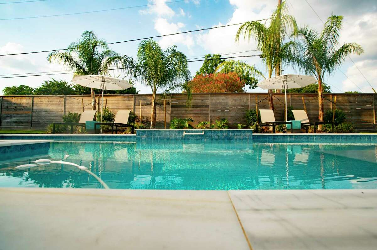Before their Meyerland home flooded, Shelly lobbied for a pool in the backyard. She and husband Steve ended up demolishing the original home on their lot and built a new one - and Shelly got her pool.
