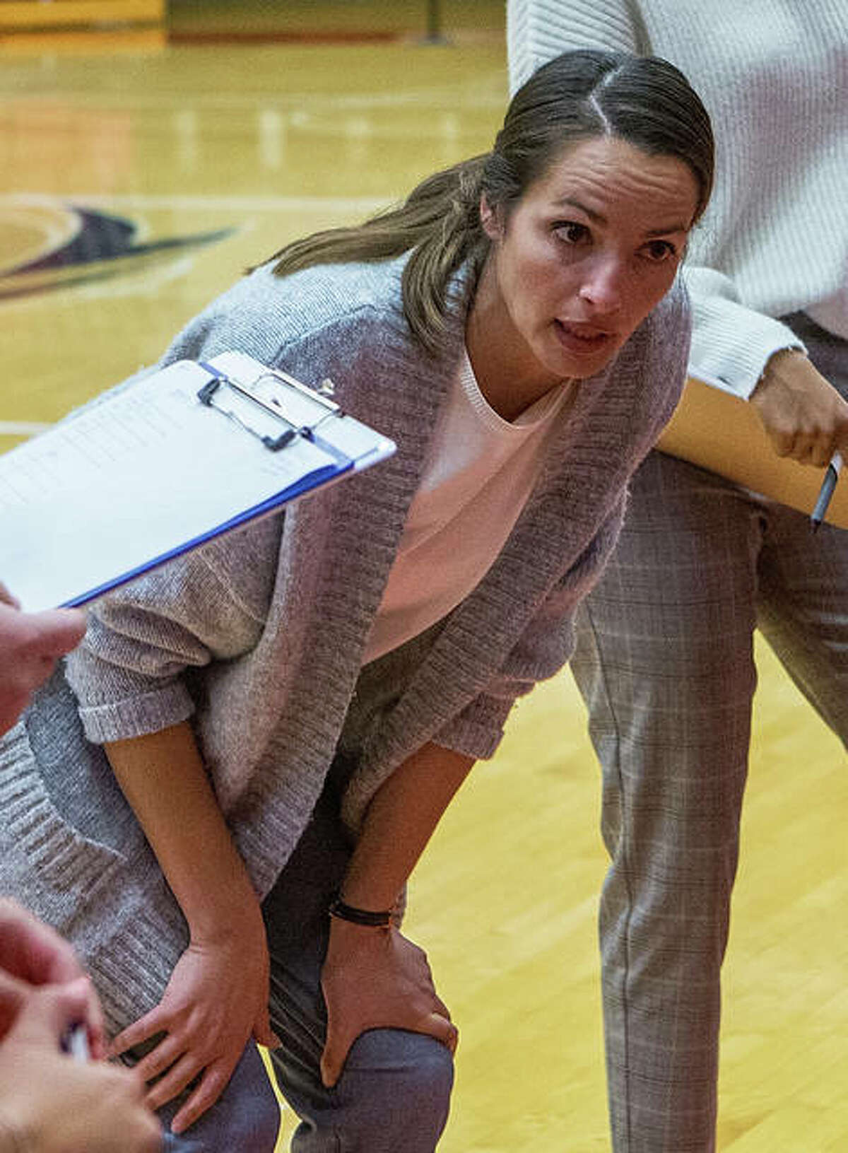 SIUE coach Kendall Paulus and her Cougars will play host to the SIU Carbondale Salukis in a preseason match Saturday at First Community Arena. Start time is set for 2 p.m.
