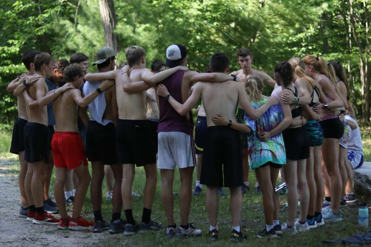 Benzie Central athletes and coaches enjoy their cross country camp at Camp Douglas Smith on Aug. 17.