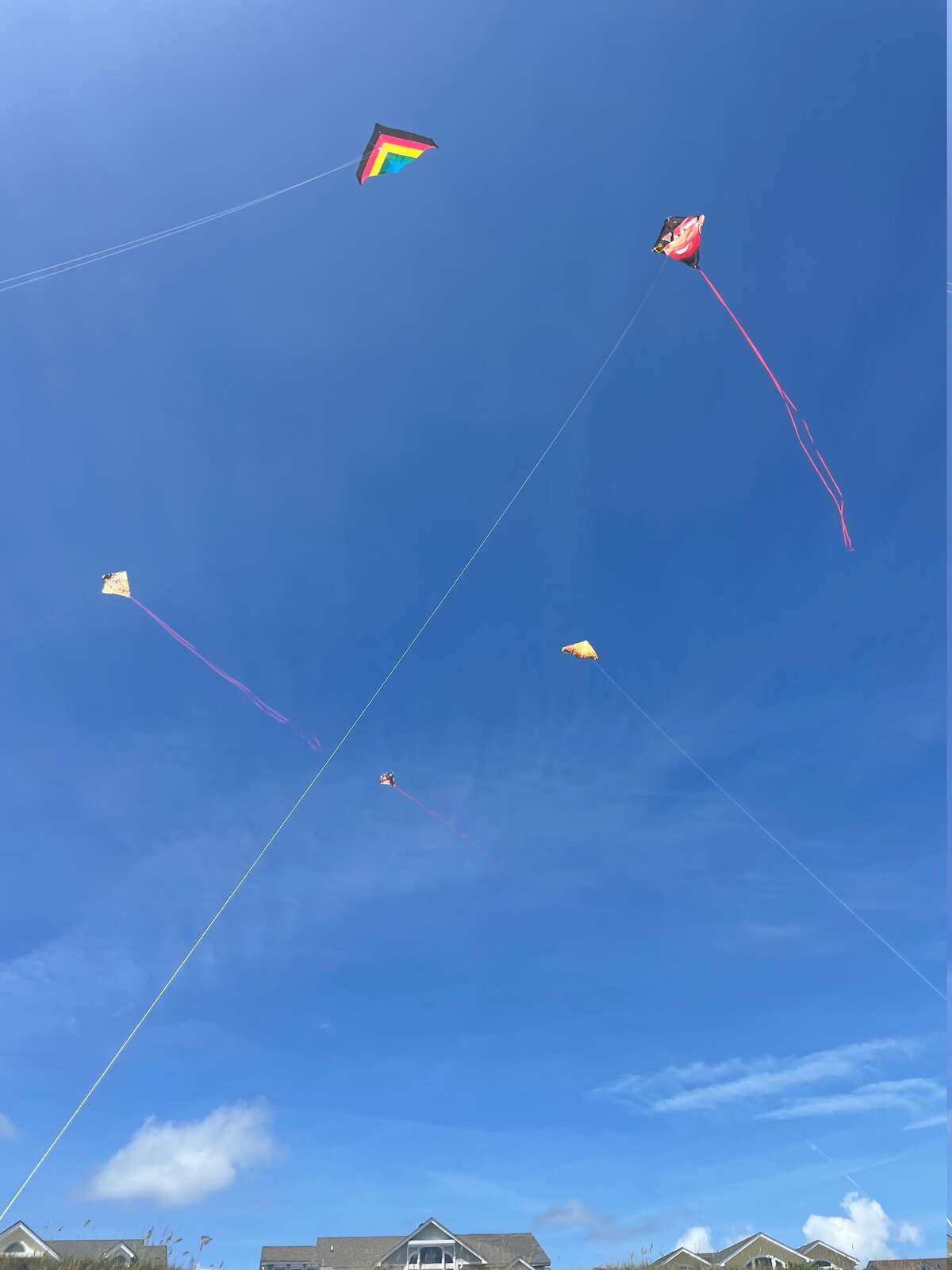 Latham resident Steve Layne's grandchildren are flying kites in Duck, North Carolina on the ocean beach.