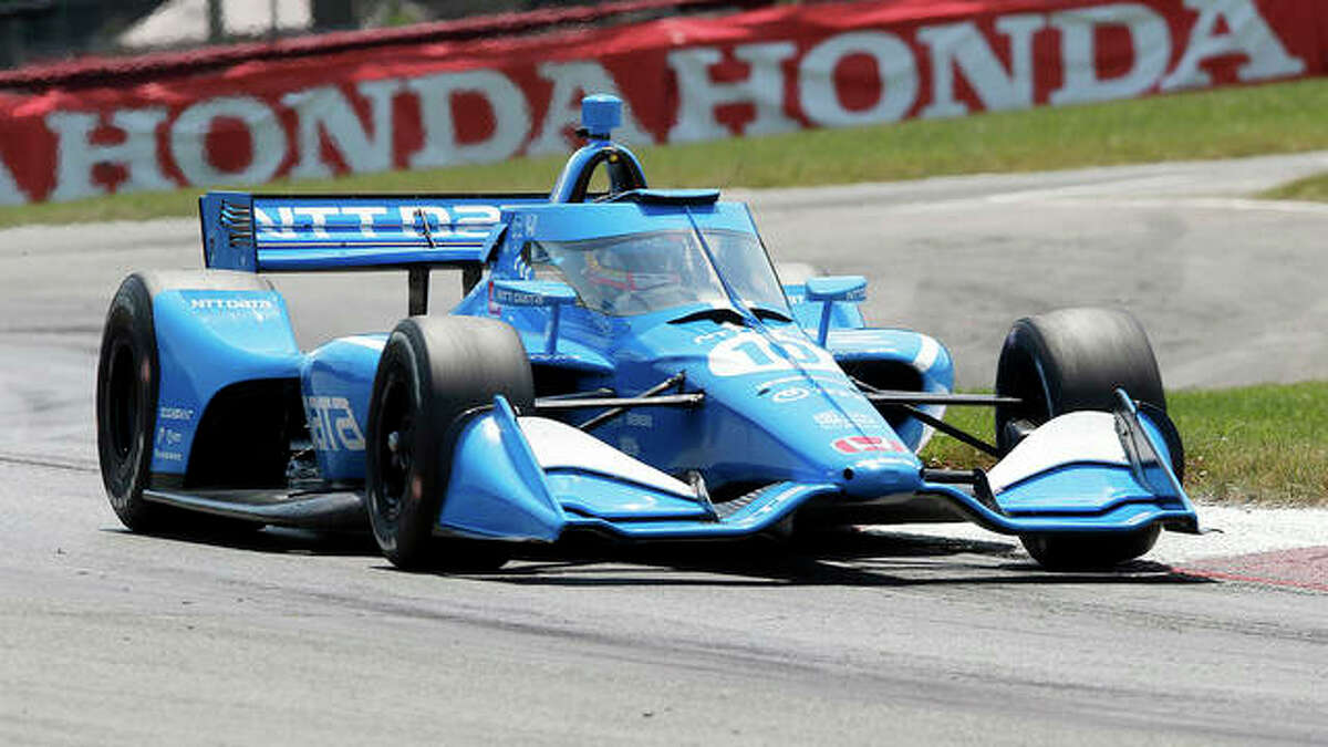 Alex Palou competes during an IndyCar race at Mid-Ohio Sports Car Course July 4 in Lexington, Ohio.. Only 62 points separate Palou and four other drivers with four races remaining and Palou was dealt his third pre-race penalty before he even arrived at Worldwide Technology Raceway in Madison. Honda has pulled the engine from Palou's car for a third time this season - twice this month - before a change was permitted under IndyCar rules.