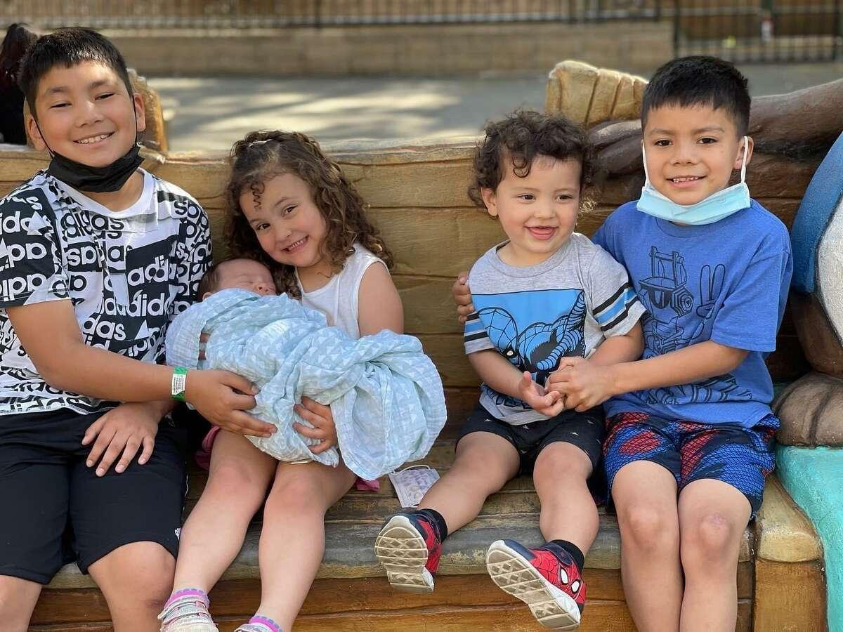 The five grandchildren of Huck and Kim Flener.