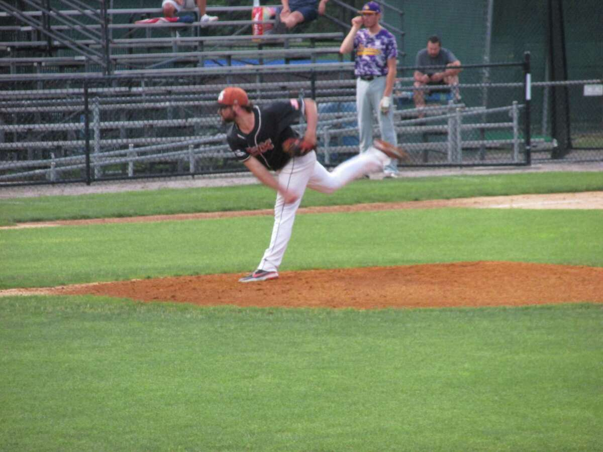 Terryville Black Sox ace Kody Kerski delivered in a win over Tri-Town Thursday night at Municipal Stadium, tying the Tri-State Baseball League's best-of-three championship series at a game apiece.