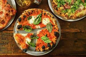 An assortment of pizzas at Square Peg Pizzeria in Glastonbury