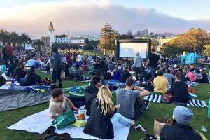 Movies at Dolores Park, September 26, 2016.