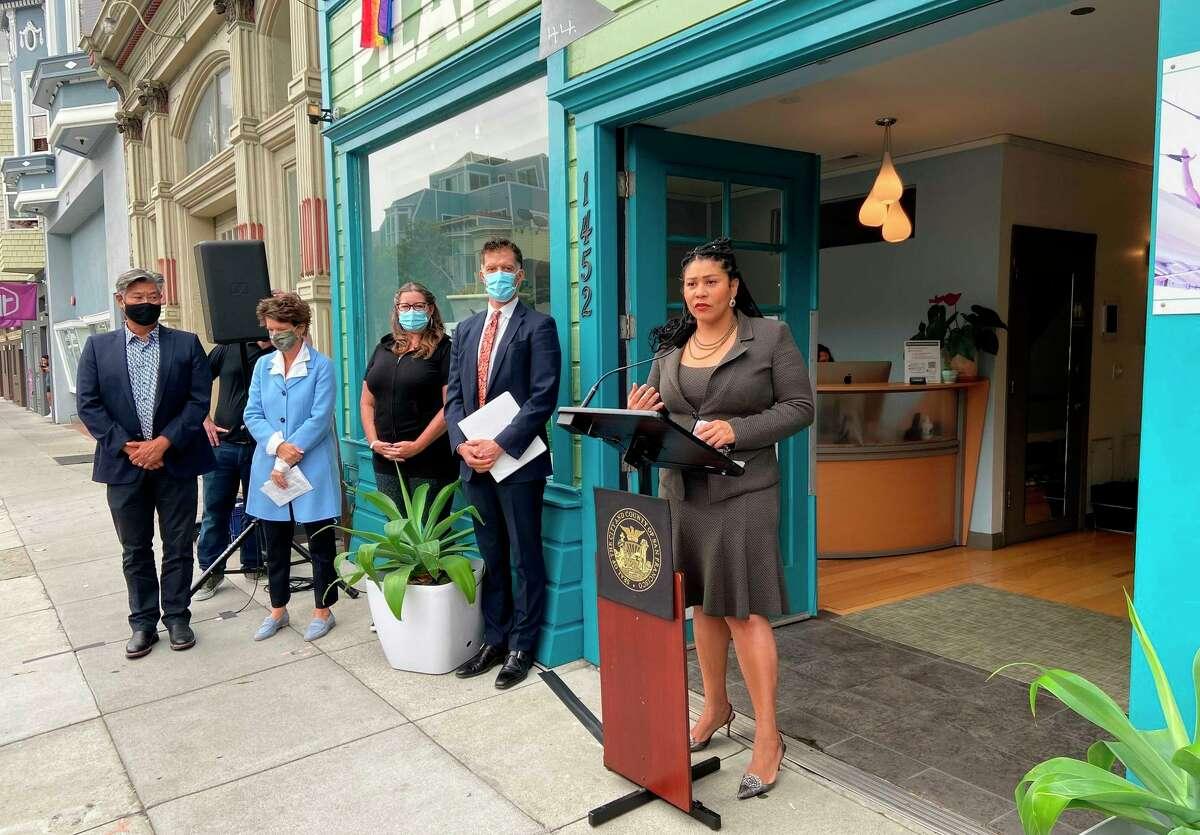 Mayor London Breed speaks about San Francisco's new vaccine mandate.