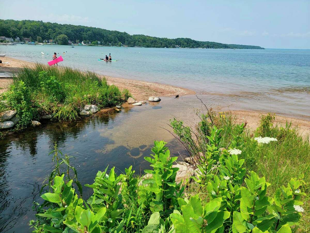 Beulah Beach has been cleared after another spike in E.coli, the second time in three weeks. (Colin Merry/Record Patriot)