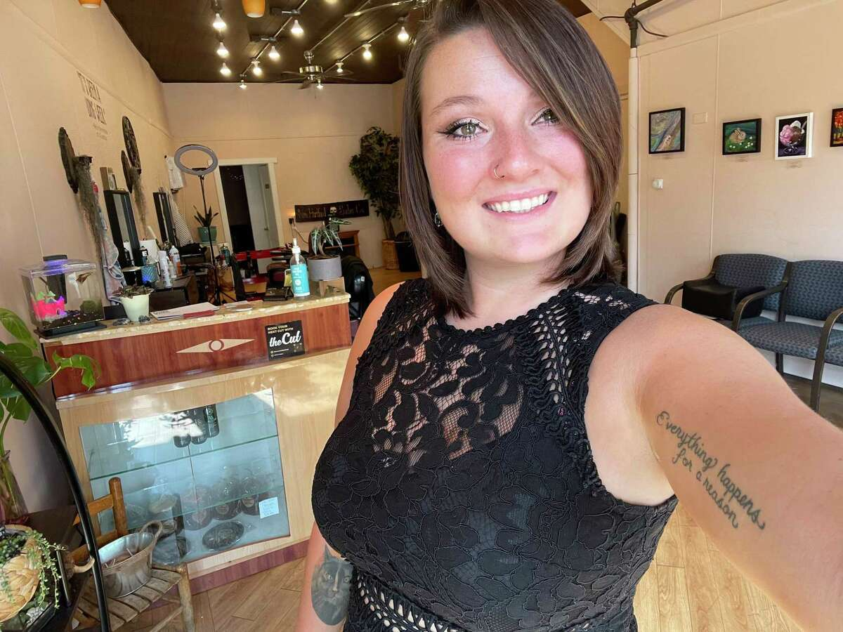 Alanna Sartirana lost her barbershop business in the New Harford House fire Aug. 10.