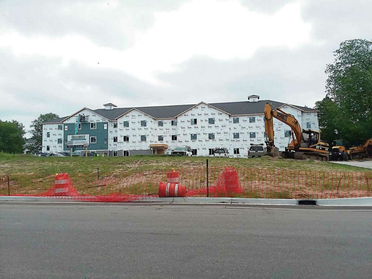 The Hillcrest Apartment development in Manistee broke ground in October 2020. According to a recent study,Manistee needs 582 rental units for people across all income groups. The current real estate market is making it difficult for residents to obtain rentals. (Michelle Graves/News Advocate)
