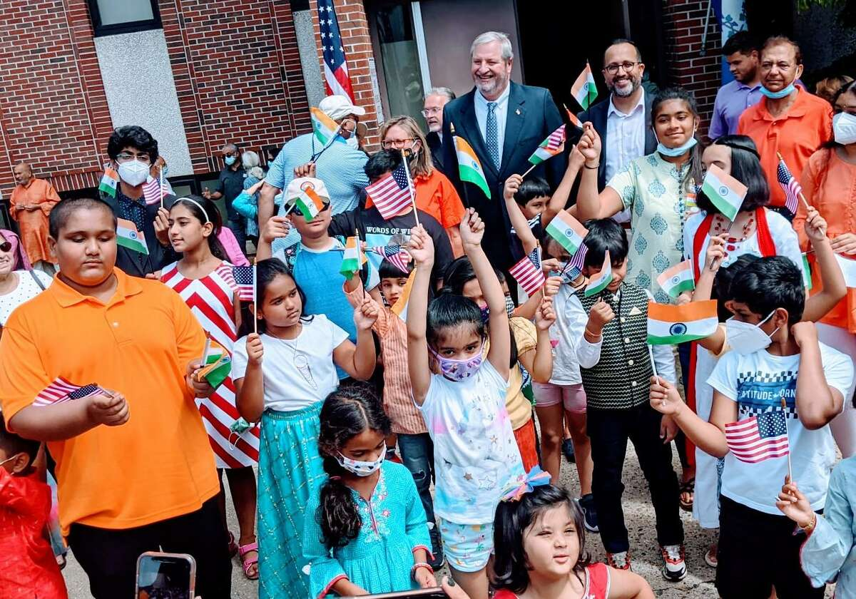 Nearly 60 people attended a celebration in Danbury honoring Indian Independence Day on Sunday, Aug. 15.