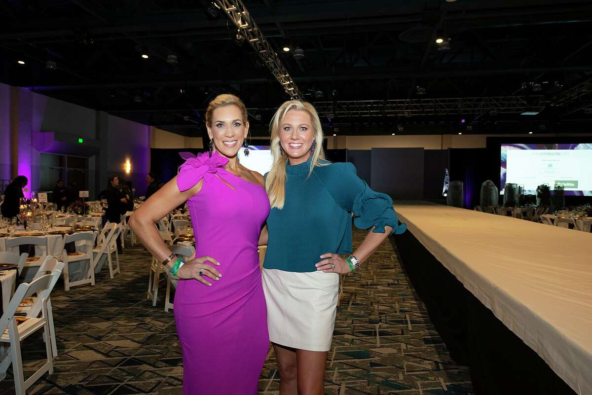 Interfaith President Missy Herndon, left, poses with Giving Goes Glam fundraiser co chairwomen Nicole Murphy in 2019. The annual Giving Goes Glam fundraiser hosted by Interfaith of The Woodlands and Junior League of The Woodlands has shifted virtual this year as local cases of COVID-19 continue to rise.