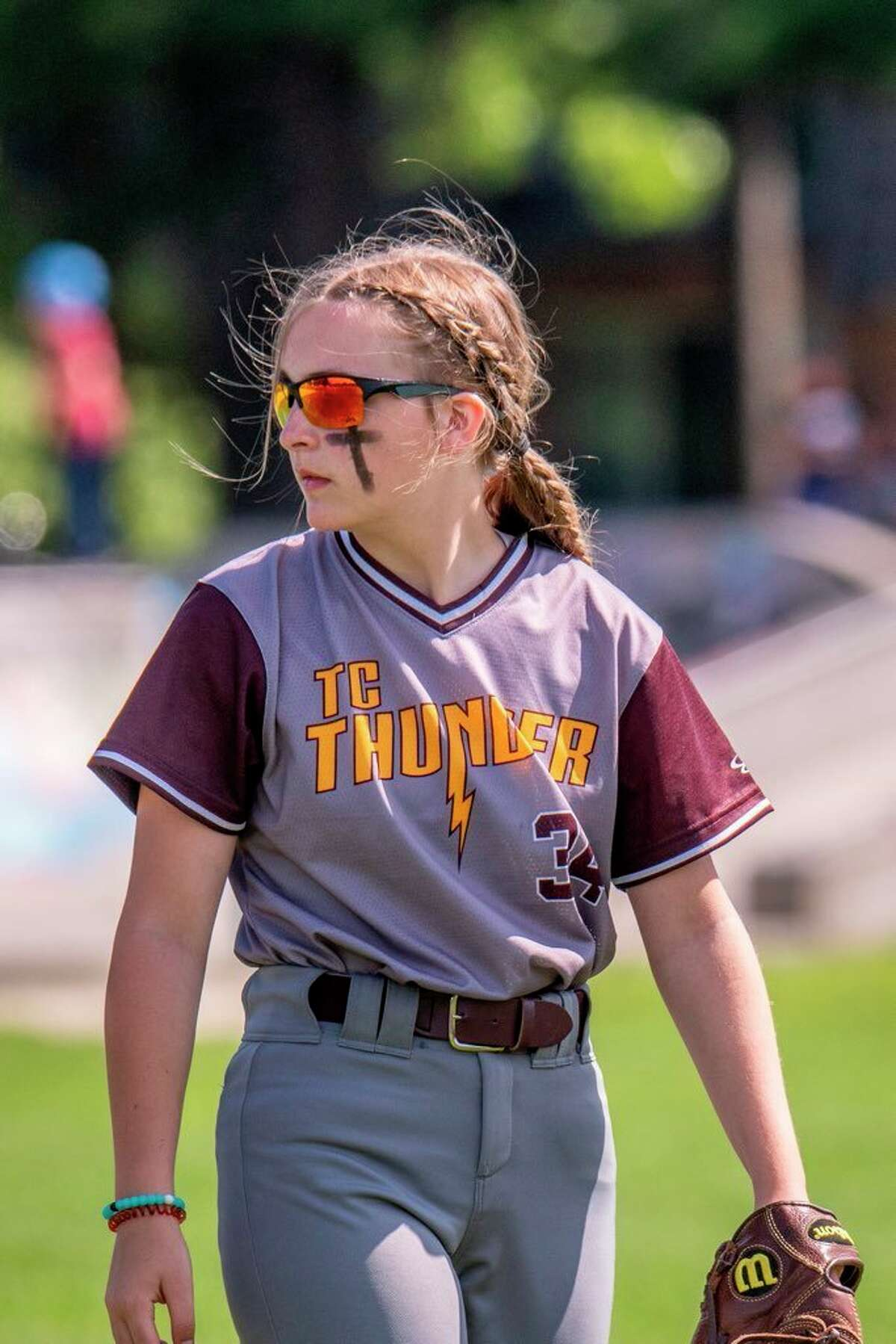 Erin Riesenberg of Chippewa Hills had a strong season for the Traverse City Thunder 14U softball team. (Courtesy photo)