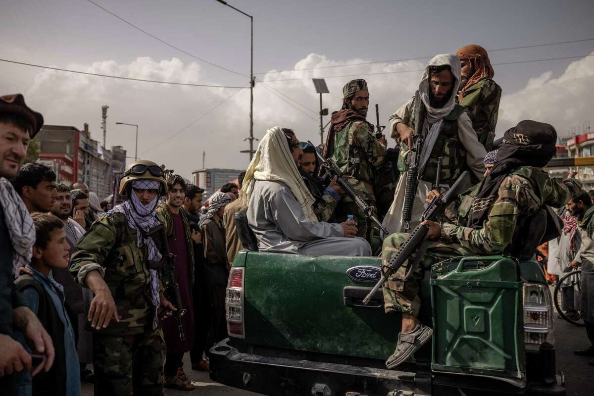 Taliban members on the streets of Kabul, Afghanistan on Friday, Aug. 20, 2021.