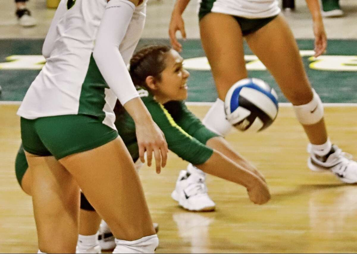 Midland College's Emily Nanez goes for the dig Friday in the MC Kickoff Classic at Chaparral Center.