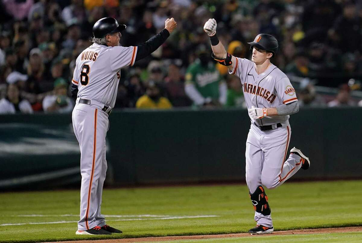 Mike Yastrzemski hit ninth for the first time in his career Friday in the Giants' 4-1 loss.