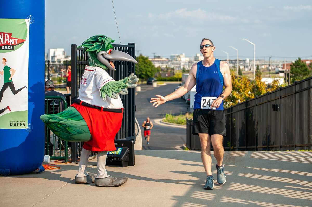 People power walk or run in the Great Lakes Loons Pennant Race on Aug. 20, 2021.