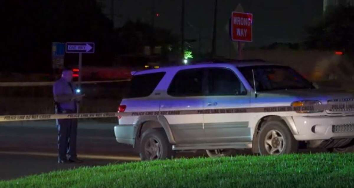 Police investigating a fatal shooting on the East Freeway on Friday night.