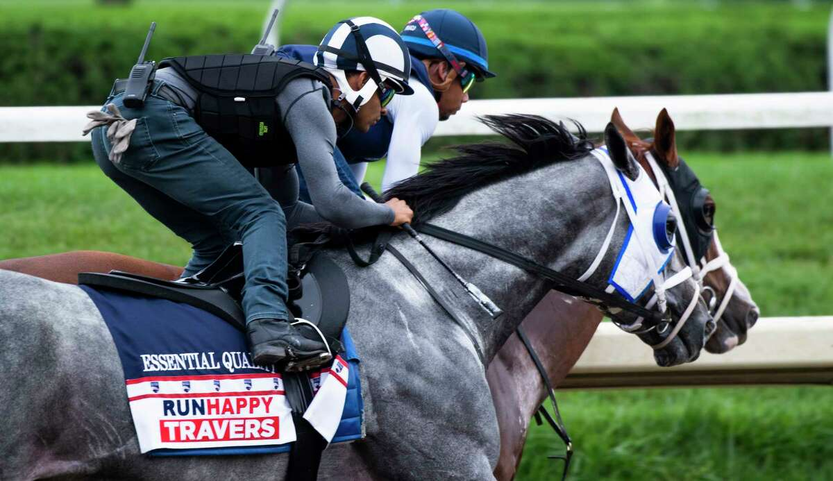 Essential Quality and jockey Luis Saez are favored to win the Travers at Saratoga Race Course on Saturday.