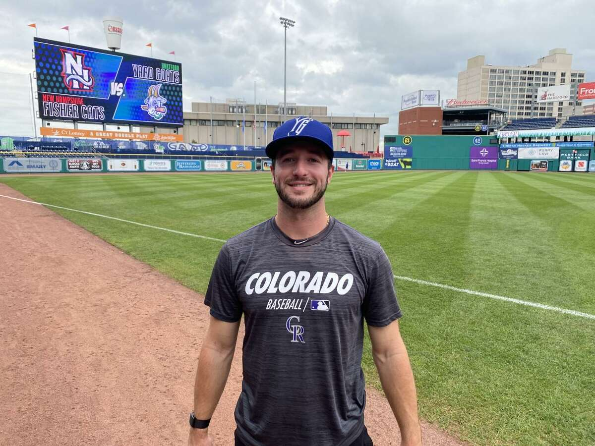 Former UConn closer PJ Poulin has shown improvement since last month's promotion to the Hartford Yard Goats.