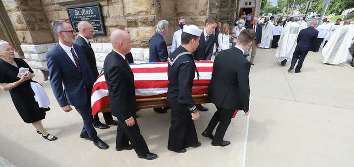 Funeral services for state Sen. Bill Haine were held Saturday at St. Mary's Catholic Church in Alton and St. Patrick's Cemetery. Haine died Aug. 16 after more than 40 years of public service. - John Badman|The Telegraph