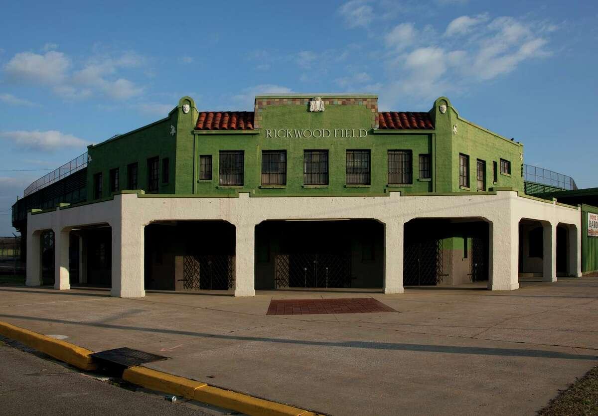 The facade of Rickwood Field in Birmingham, Alabama.