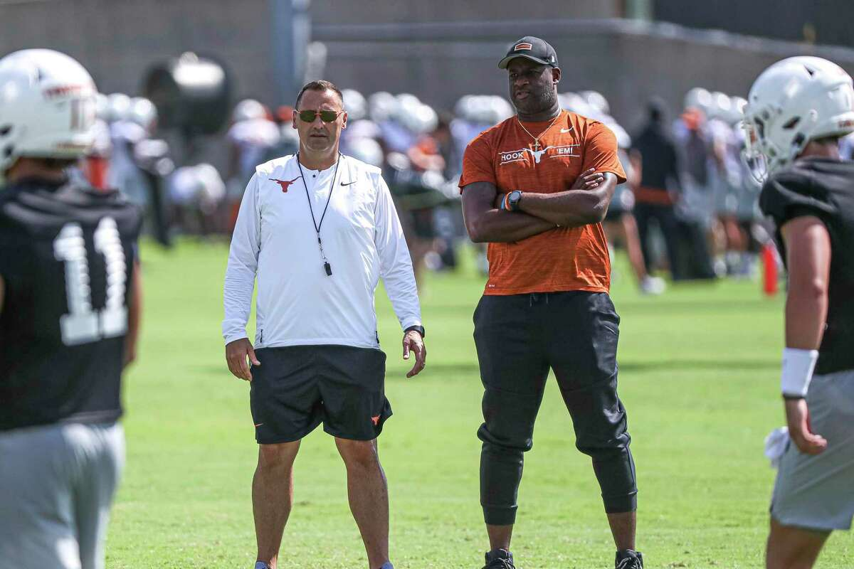 Shortly after taking over at Texas, Longhorns coach Steve Sarkisian, left, added former Alabama colleague Jeff Banks to his coaching staff.