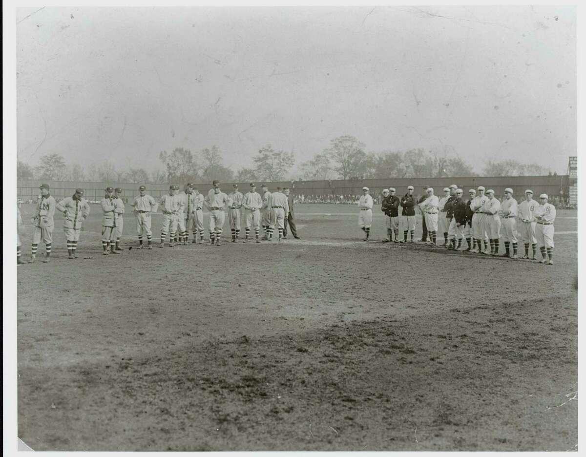 The Birmingham Black Barons and Montgomery Grey Sox at Rickwood Field.