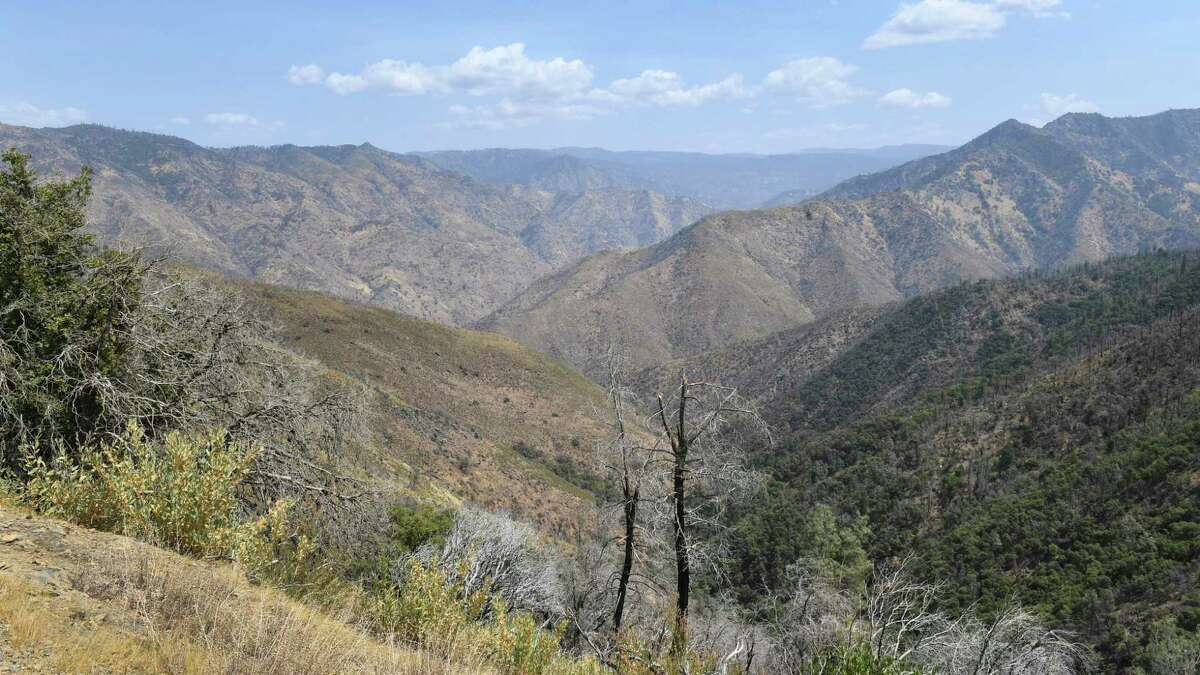 A remote canyon area northeast of the city of Mariposa, seen on Wednesday, August 18, 2021, is reported to be the area where a family and dogs were found dead on Tuesday, the Mariposa County Sheriff's Office said.