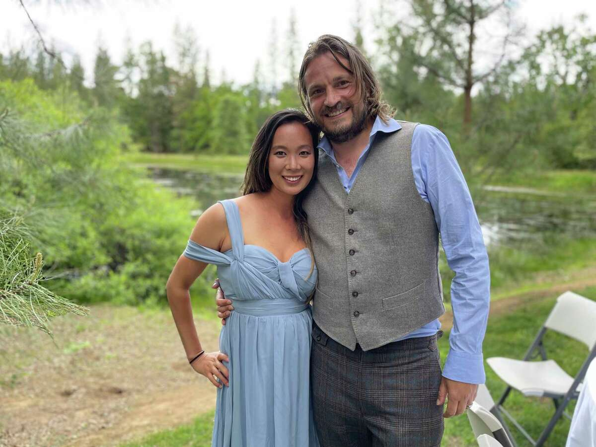 Ellen Chung (left), Jonathan Gerrish and their 1-year-old daughter and dog were found dead on Aug. 17, 2021, in a remote part of the Sierra National Forest.