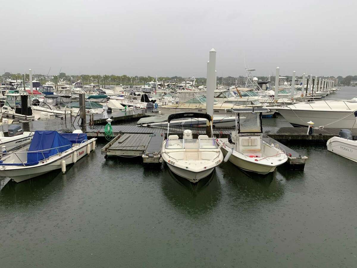 Boats were taken in and secured in Norwalk ahead of Tropical Storm Henri on Aug. 22, 2021.