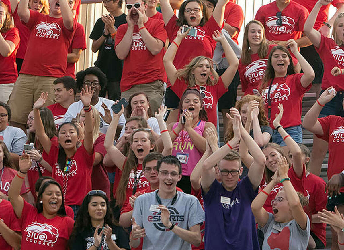 SIUE's men's soccer team defeated IUPUI Saturday night at Korte Stadium in front of a large crowd, consisting of many incoming freshmen as part of the SIUE Experience program. Shown is a previous crowd at Korte.