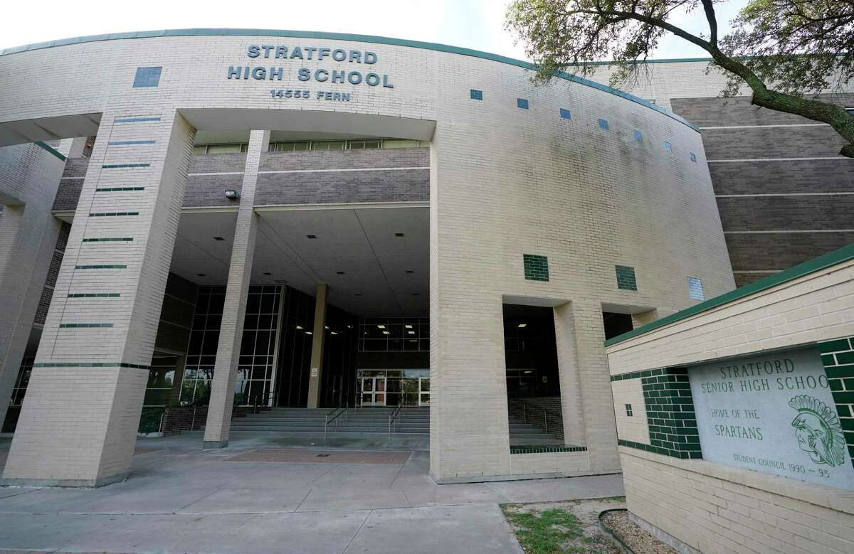 Stratford High School 14555 Fern Dr., is shown Friday, Oct. 23, 2020 in Houston.