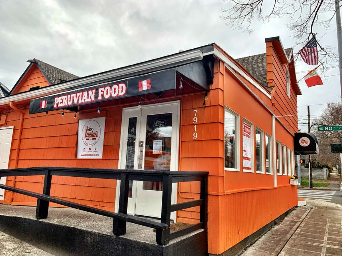 """The exterior of Don Lucho's reads """"Peruvian food."""""""