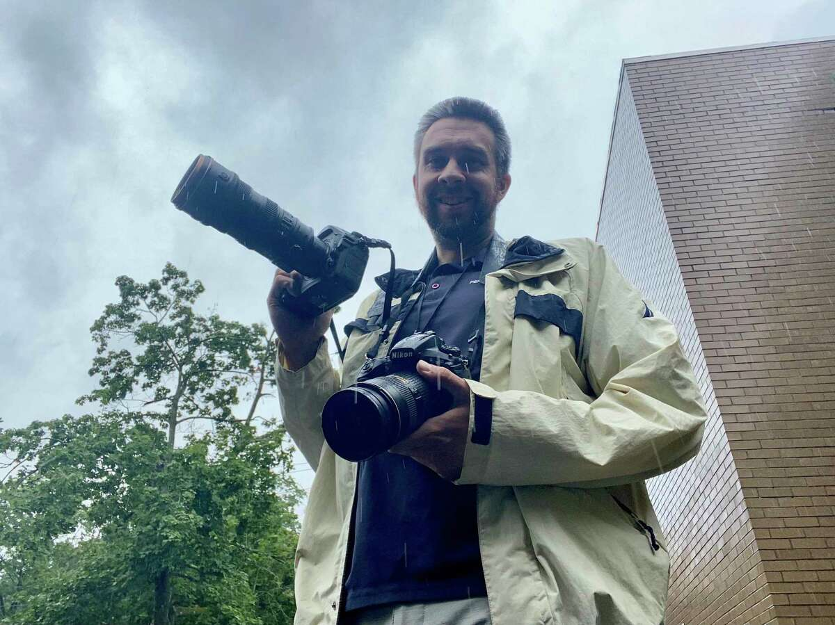Hearst Connecticut Media photographer Tyler Sizemore covers Tropical Storm Henri Sunday in lower Fairfield County.