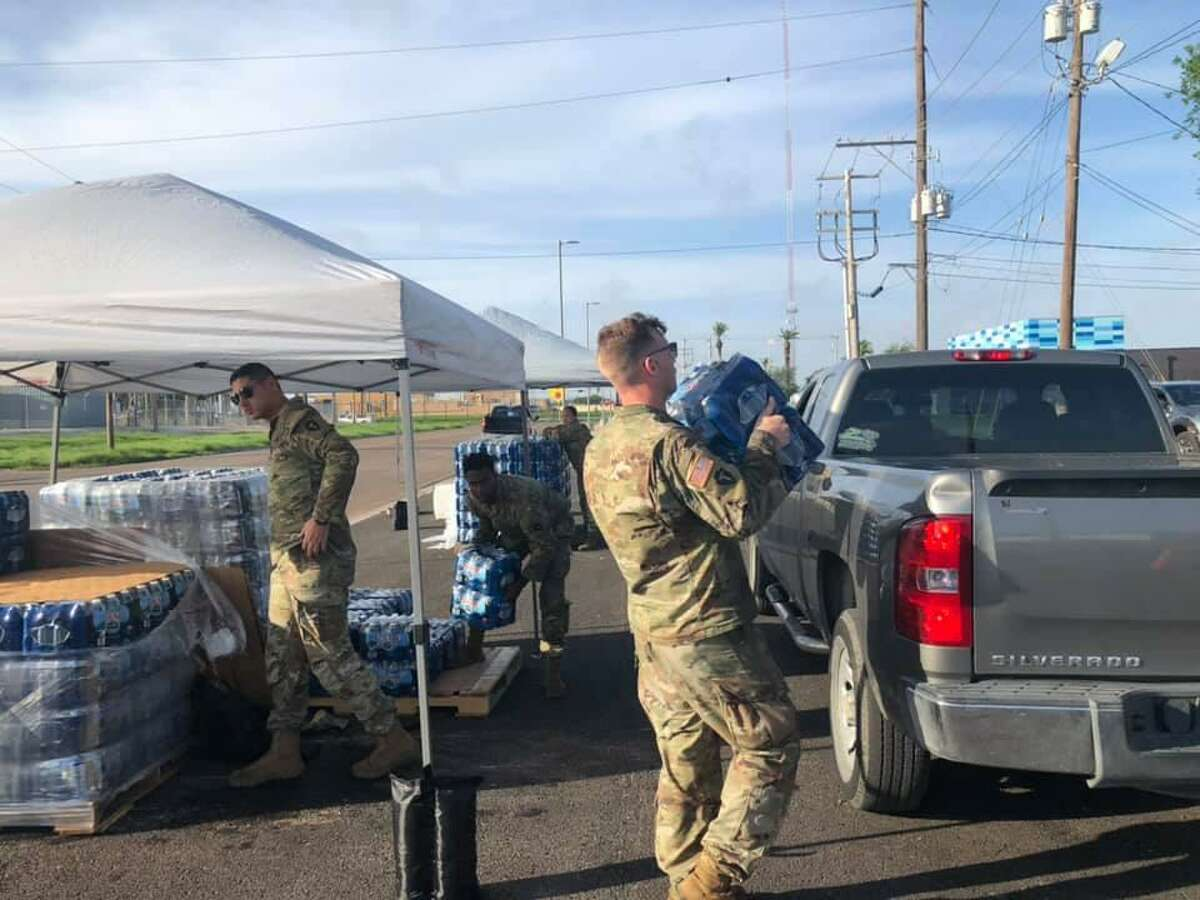 A bottled water distribution was held July 15, 2021 at the Laredo Regional Food Bank.