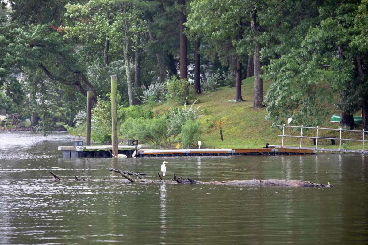 The Saugatuck River in Westport during Tropical Storm Henri on Aug. 22, 2021. ?