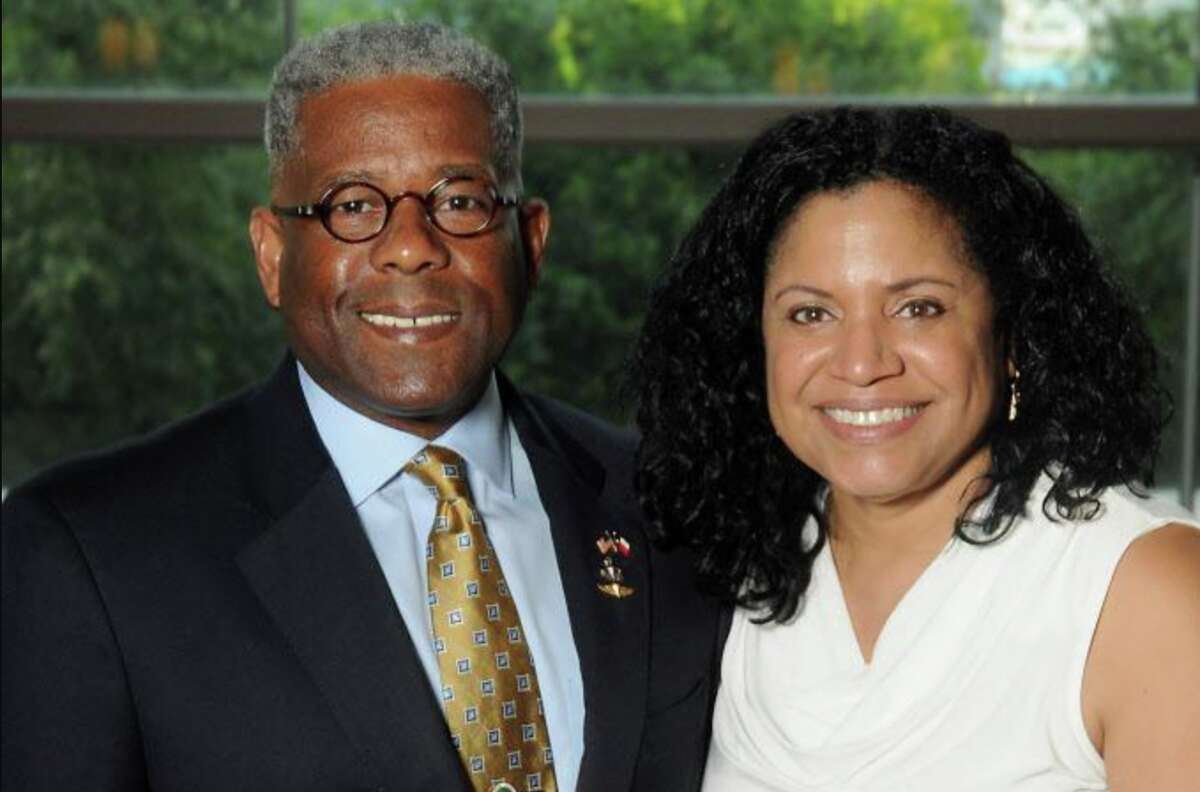 """Lt. Col Allen West and his wife Angela at the 2016 Kickstart Kids Gala """"Heroes Among Us"""" at the Hilton Americas Hotel Friday May 13, 2016."""