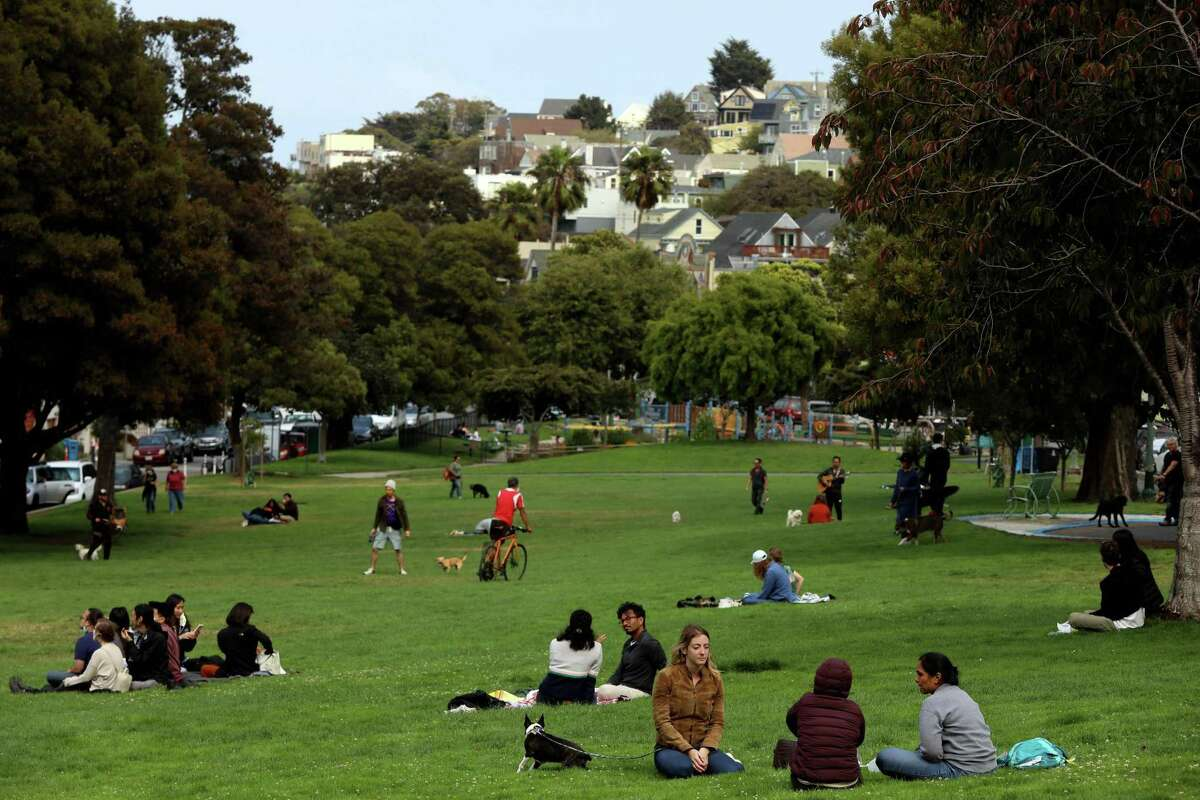 Precita Park is a popular recreation area of Bernal Heights, which census data says didn't grow in population over the past decade.